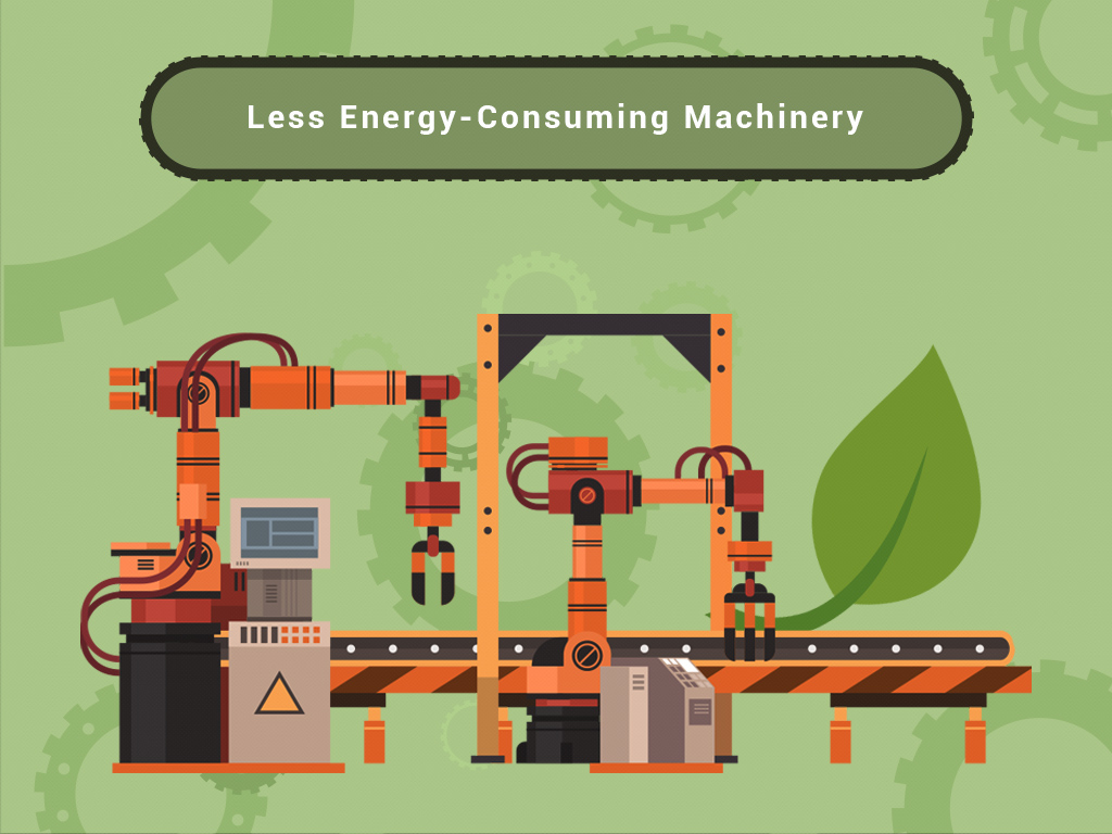 Less Energy Consuming Machinery