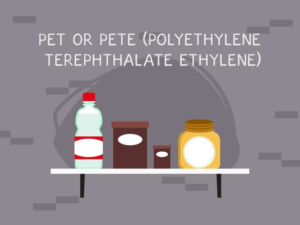 #1 PET or PETE (Polyethylene Terephthalate Ethylene)