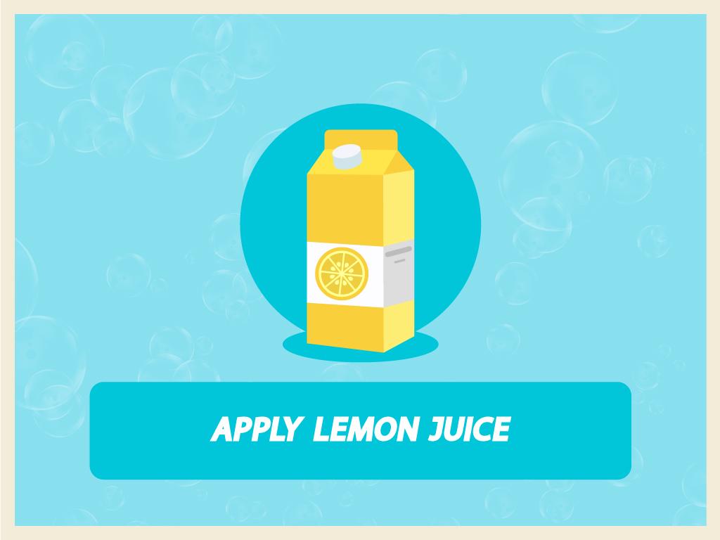 Graphics of lemon juice