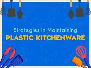 Graphics of plastic kitchenware