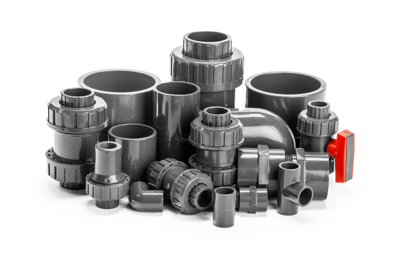 Plastic pipe parts made out of injection molding