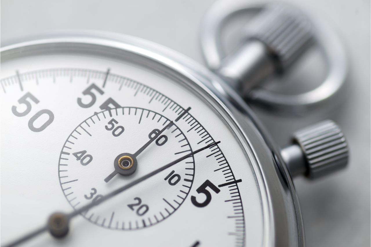 Measuring lead time through a stop watch