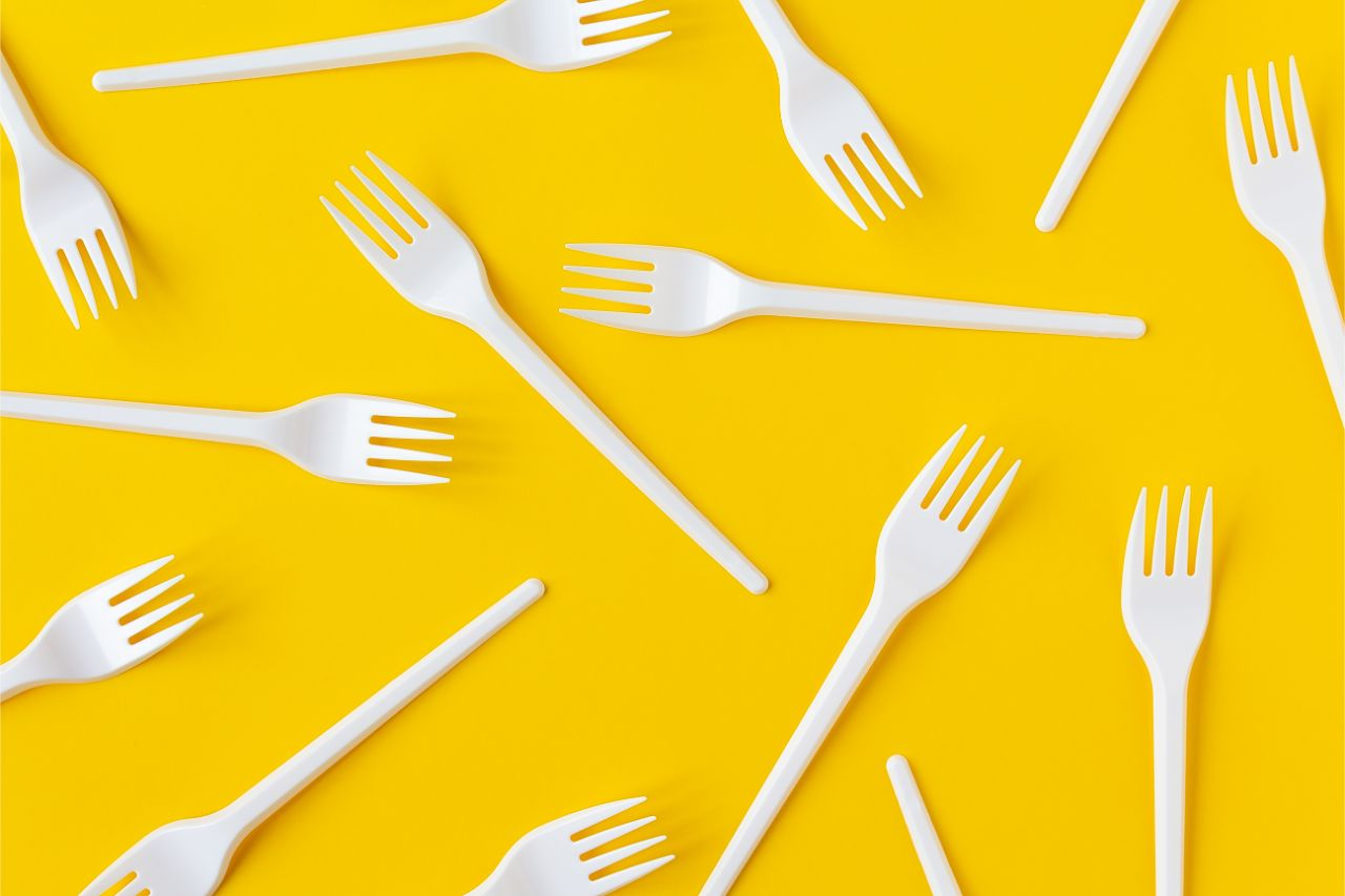 Plastic forks made out of polypropylene