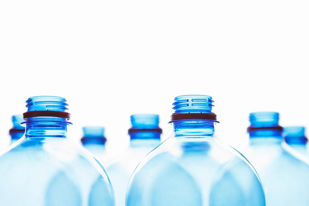 PET water bottles